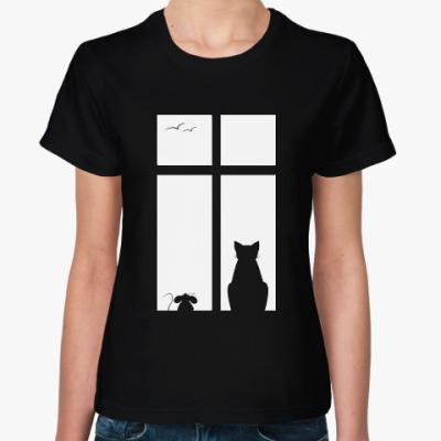 Женская футболка Вечер