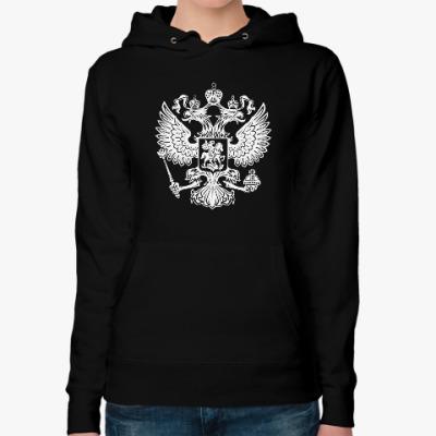 Женская толстовка худи Герб России