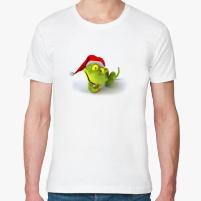 Футболка из органик-хлопка Зеленая змея