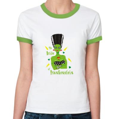 Женская футболка Ringer-T невеста франкенштейна