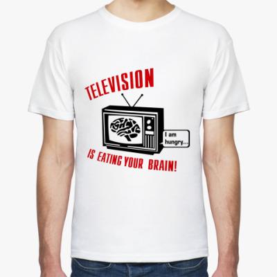 Футболка Телевидение ест мозг