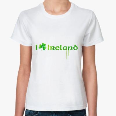 Классическая футболка I love Ireland