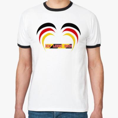 Футболка Ringer-T Я люблю тебя по-немецки
