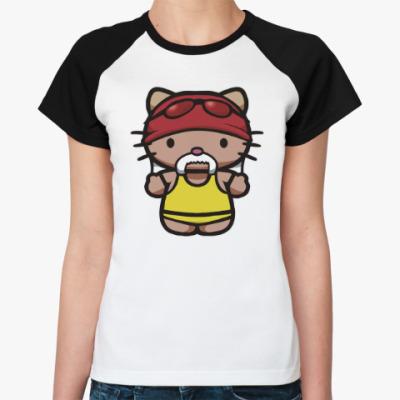 Женская футболка реглан Китти Халк Хоган