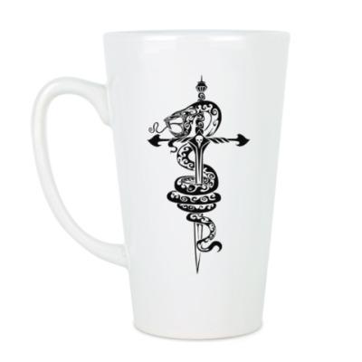 Чашка Латте змея
