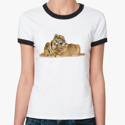 Женская футболка Ringer-T Тигры