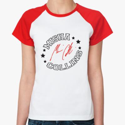 Женская футболка реглан Миша Коллинз - Supernatural