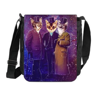 Сумка на плечо (мини-планшет) Три космических кота