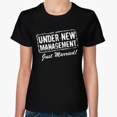 Женская футболка Молодожёны