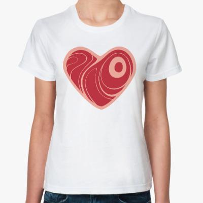 Классическая футболка Люблю Бекон