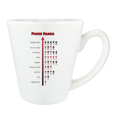 Чашка Латте Poker Hands
