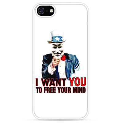 Чехол для iPhone Anonymous Uncle Sam