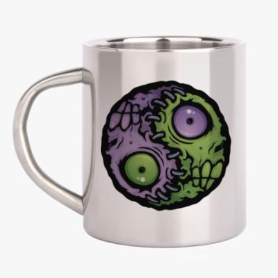 Кружка металлическая Зомби инь-ян