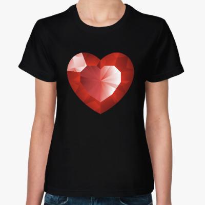 Женская футболка сердце любовь дружба для двоих