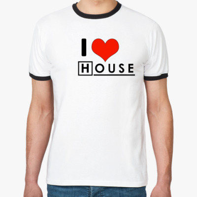 Футболка Ringer-T I love House
