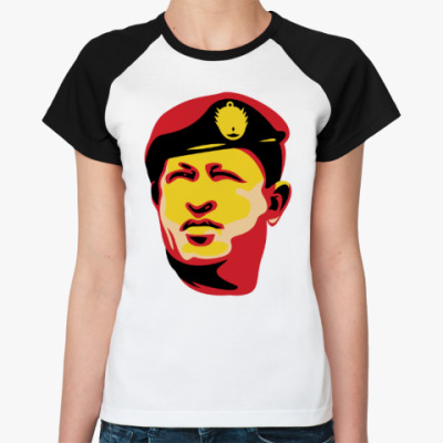 Женская футболка реглан Уго Чавес