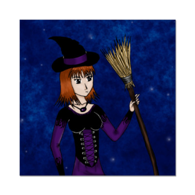 Наклейка (стикер)  8x8 Ведьма