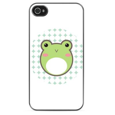 Чехол для iPhone Кавайный лягушонок
