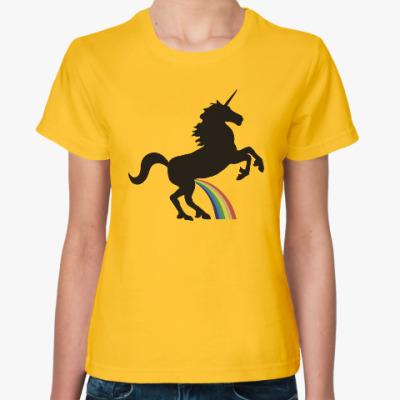 Женская футболка Радужный единорог