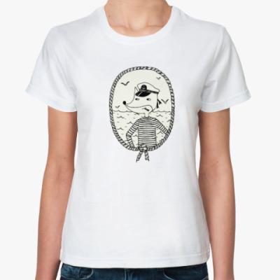 Классическая футболка Лис-моряк