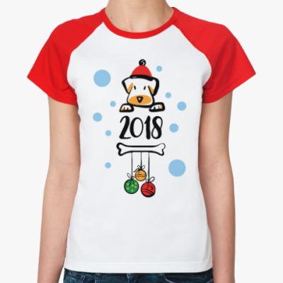 Женская футболка реглан Год Собаки