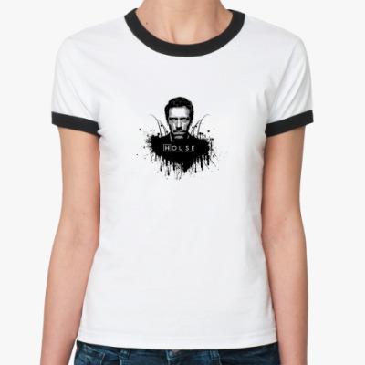 Женская футболка Ringer-T House M.D