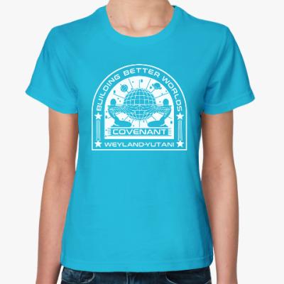 Женская футболка Чужой. Завет