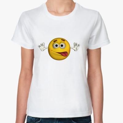Классическая футболка Смайл с языком