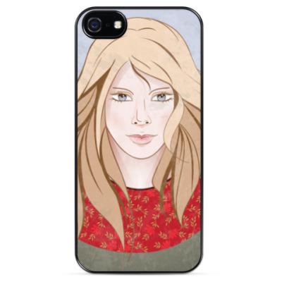 Чехол для iPhone Портрет девушки