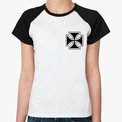 Женская футболка реглан   biker