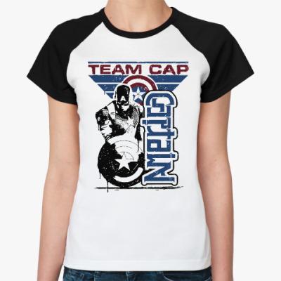 Женская футболка реглан Первый мститель:Противостояние
