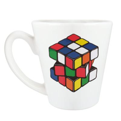 Чашка Латте Кубик Рубика   Rubiks Cube