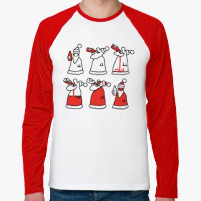 Футболка реглан с длинным рукавом Как стать Дедом Морозом