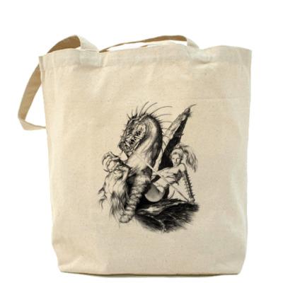 Сумка Холщовая сумка с девушкой