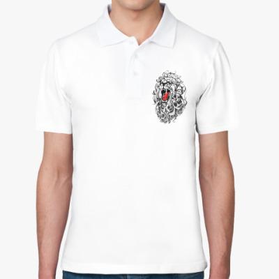Рубашка поло Стилизованный Лев (lion)