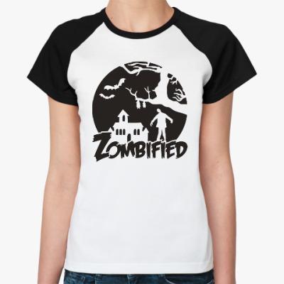 Женская футболка реглан Зомбификация