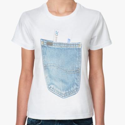 Классическая футболка Джинсовый карман