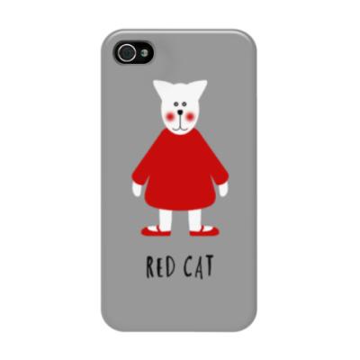 Чехол для iPhone 4/4s Red Cat