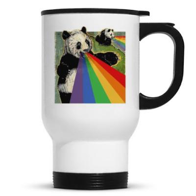 Панда блюет радугой