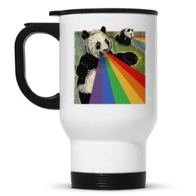 Кружка-термос Панда блюет радугой
