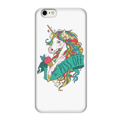 Чехол для iPhone 6/6s Единорог с мороженым