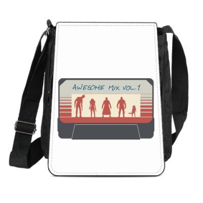 Сумка-планшет Стражи галактики - кассета
