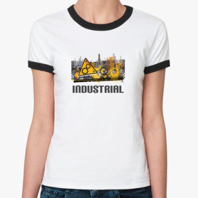 Женская футболка Ringer-T 'Industrial'