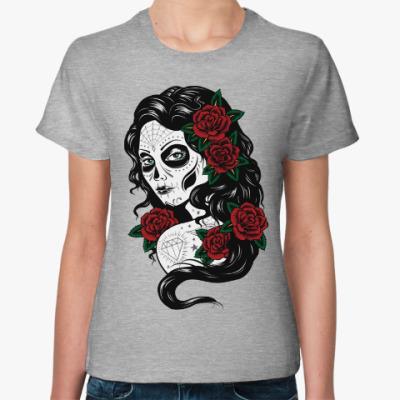 Женская футболка Sugar Skull Мексиканский череп