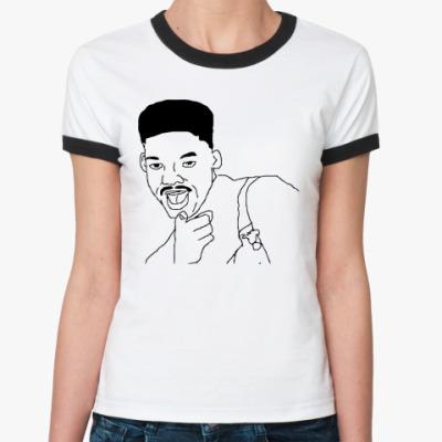 Женская футболка Ringer-T Уилл Смит