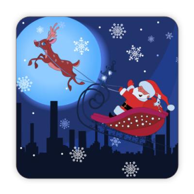 Костер (подставка под кружку) Подставка Санта