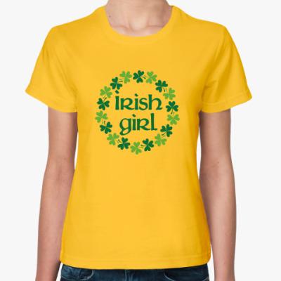 Женская футболка Irish girl