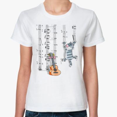 Классическая футболка КОТ И НОТЫ