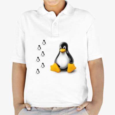 Детская рубашка поло Linux