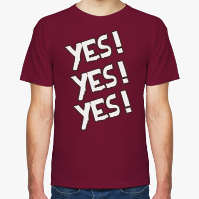 Футболка  Yes! Yes! Yes!